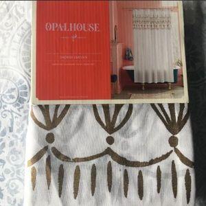 Opalhouse Metallic Gold Border Shower Curtain
